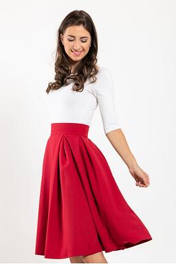 Midi sukně Baronka, vínová