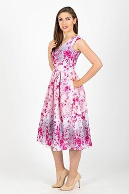 Midi šaty Jarní snění, růžové