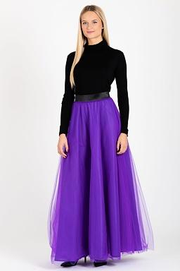 Tylová maxi sukně Long Laney, fialová