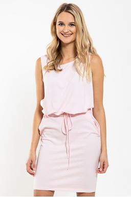 Pouzdrové šaty Smyčka, růžové