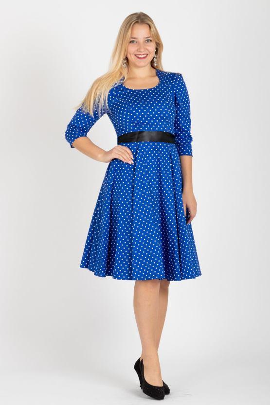 508b06f2c969 Retro šaty s puntíky Adele