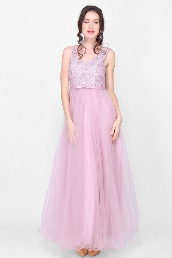 Plesové šaty Perlička, růžové