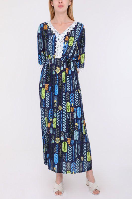 Midi šaty Bojovka, modré