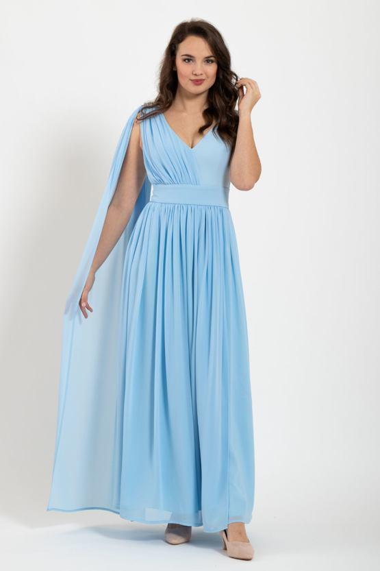 Plesové šaty Antika, modré