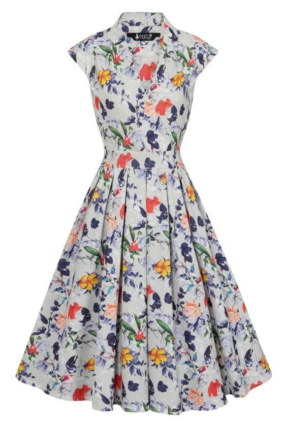 Šaty Letní rozbřesk, šedé