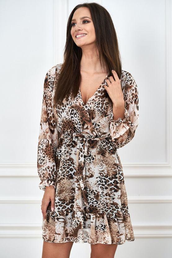 Šaty Safari, hnědé