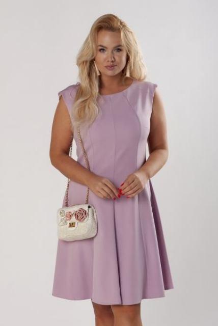 Šaty Latina, fialové