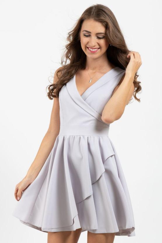 Společenské šaty Monochrom, šedé