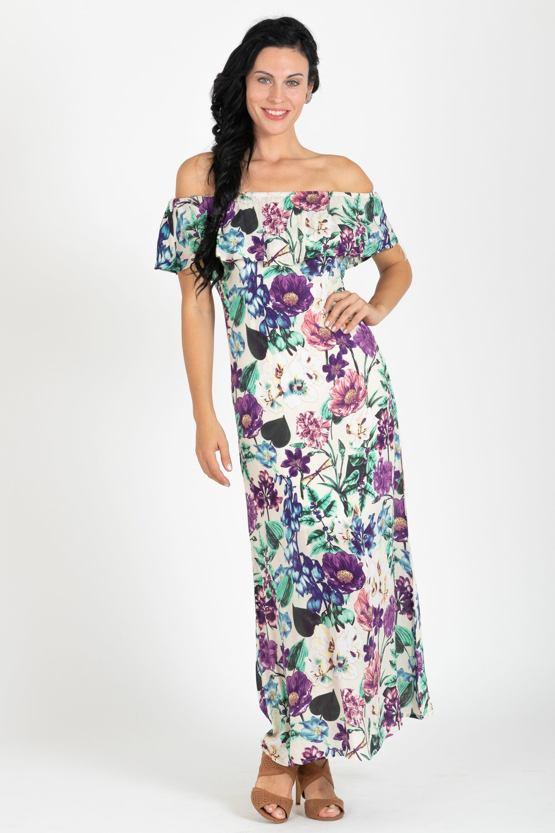 Maxi šaty Šafrán, fialové