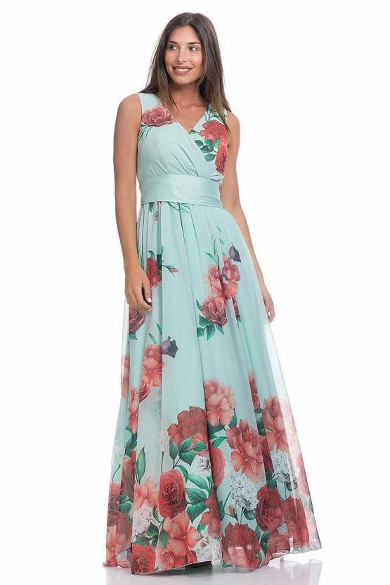 Společenské šaty Jarní závan, mintové