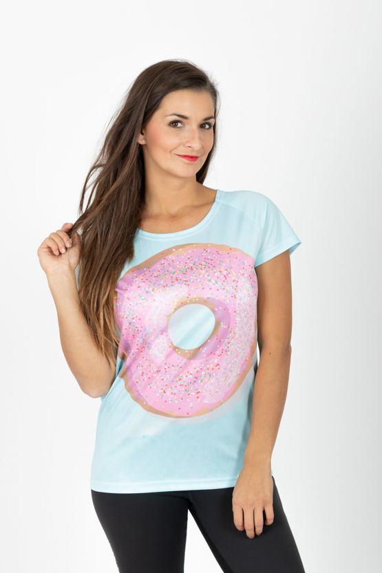 Tričko Veselý donut, mintové