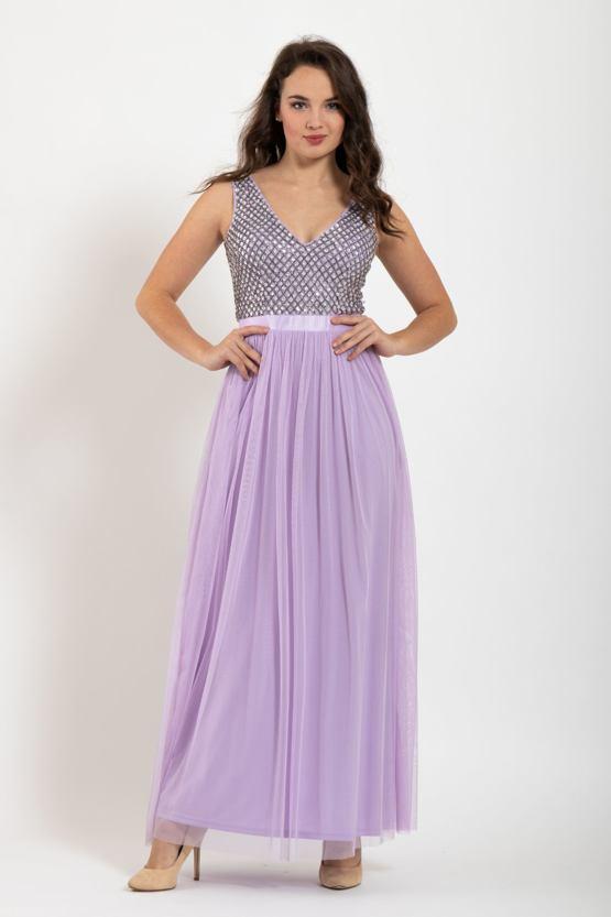 Plesové šaty Šeřík, fialové