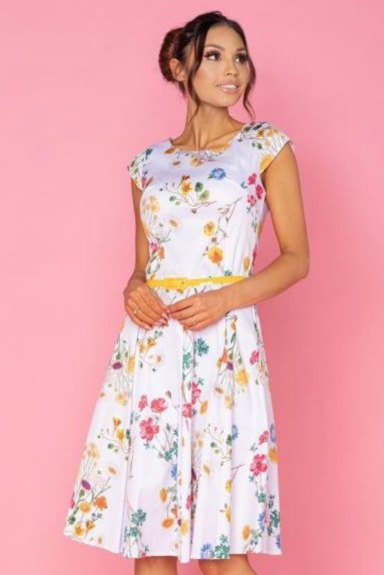 Šaty Kristýna, bílé