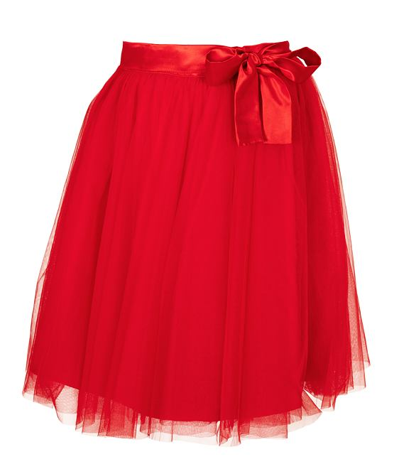 Tylová sukně Amada, červená