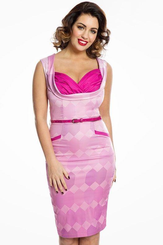Pouzdrové šaty Vanessa, magentové