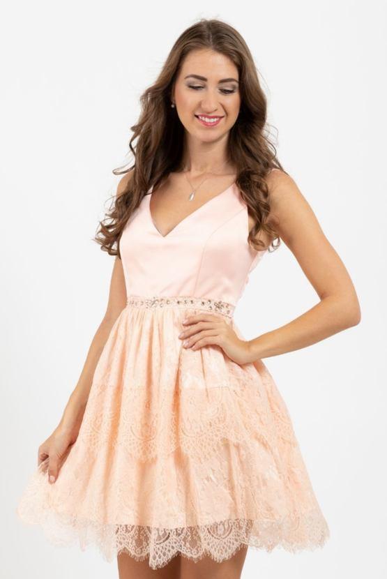 Společenské šaty Jarmark, meruňkové