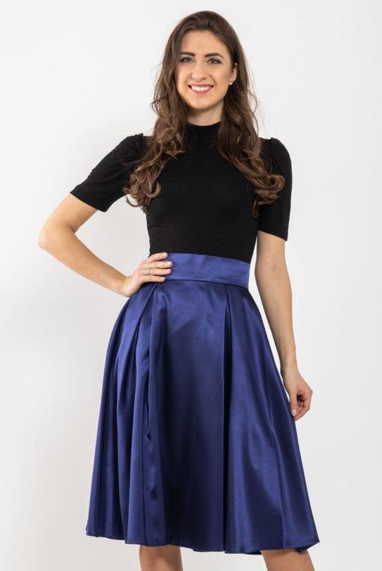 Midi sukně Missi, námořnicky modrá