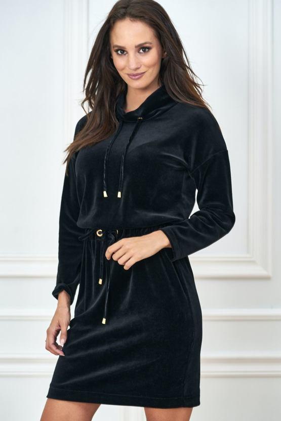 Šaty Sametky, černé