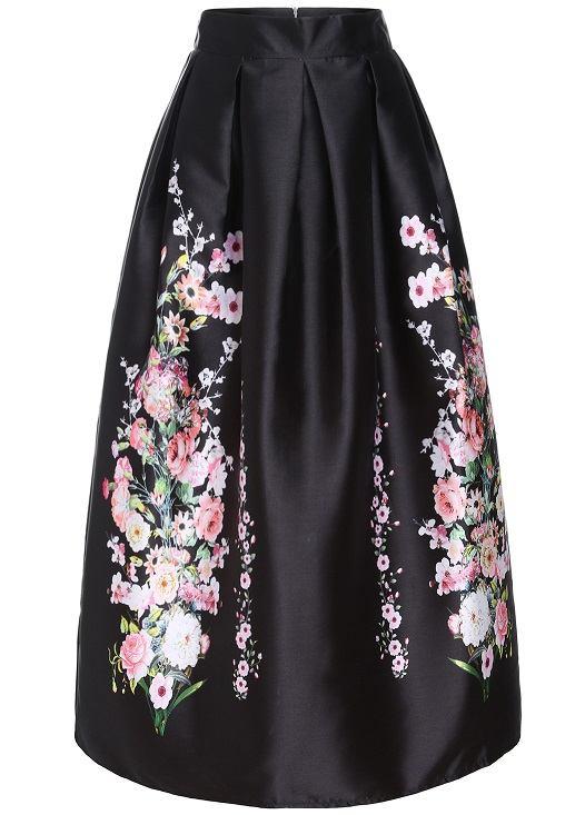 Shein maxi sukně Rajská zahrada. Mini šaty Dlouhé sukně Shein e4bfa5c6c9