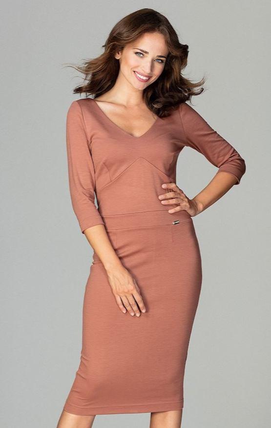 Šaty Miláňanka, hnědé