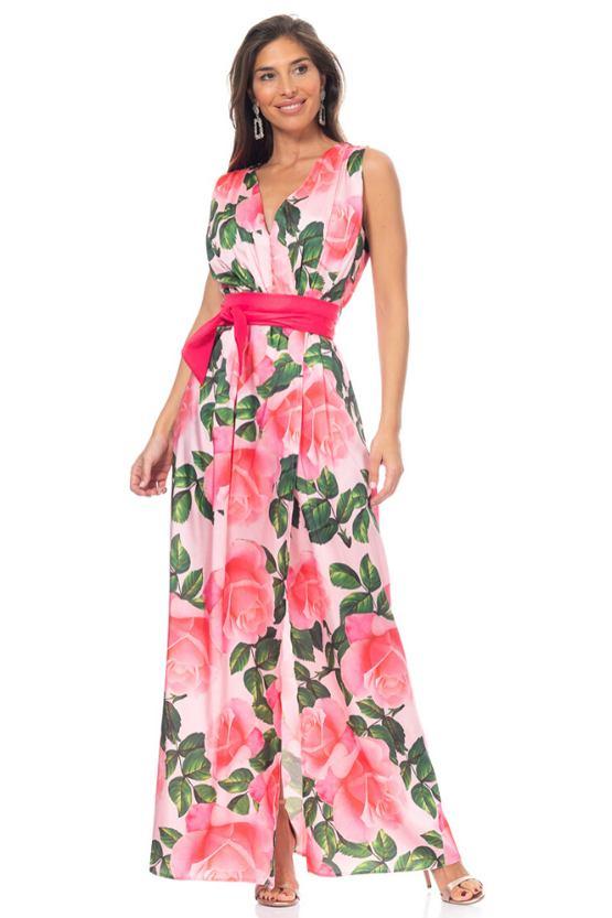 Společenské šaty Plamenky, růžové