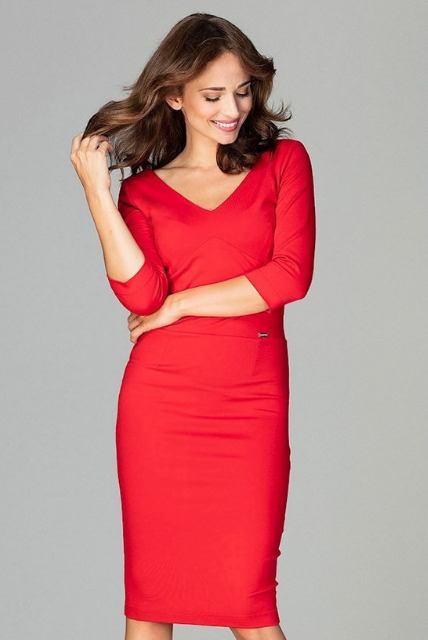 Šaty Miláňanka, červené