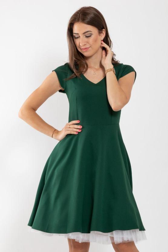 Šaty Muzikál, smaragdové