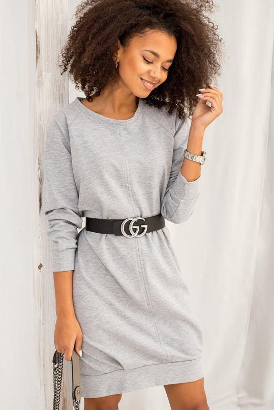 Mikinové šaty Kiki, světle šedé