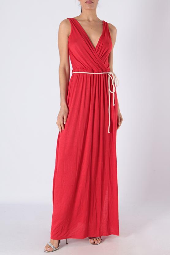 Maxi šaty Mauricius, červené