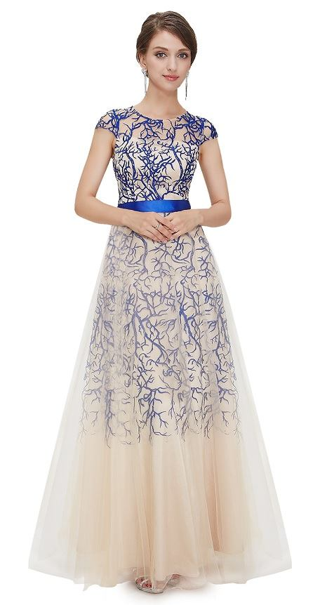 082434bfa61 Ever-Pretty plesové šaty Něžná pavoučnice