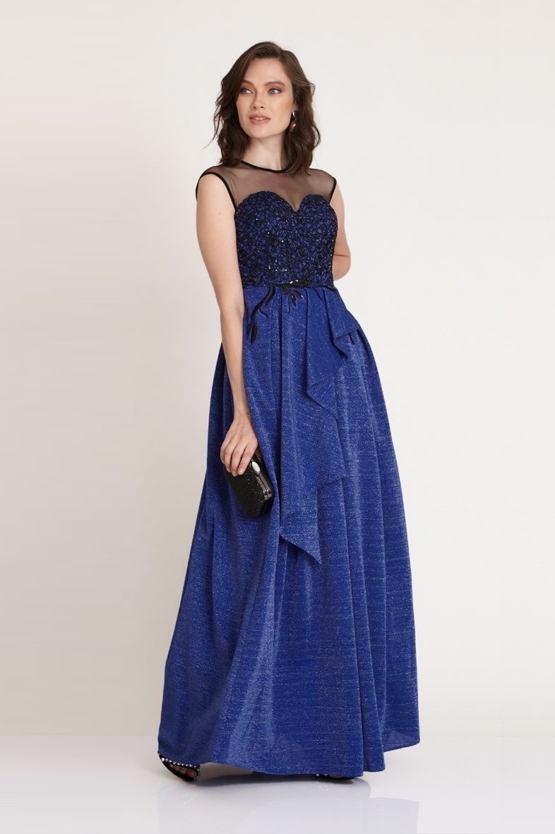 Plesové šaty Saphira, modré