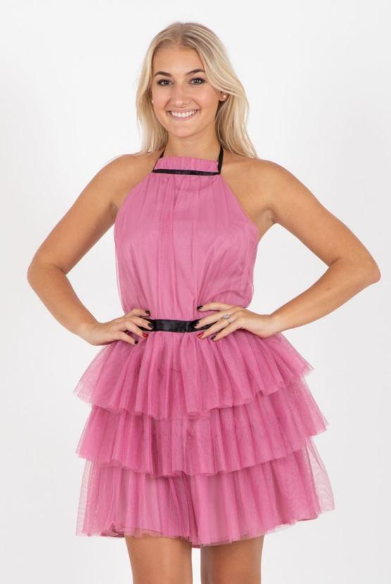 TUTU šaty Kaskáda, růžové