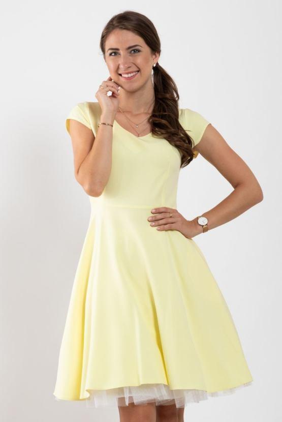 Šaty Muzikál, žluté