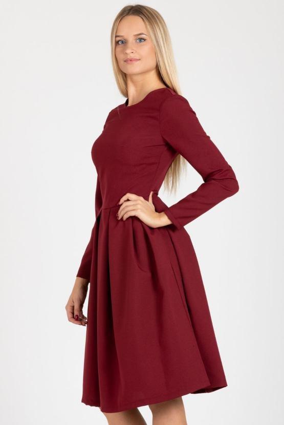 Šaty Olše, vínové