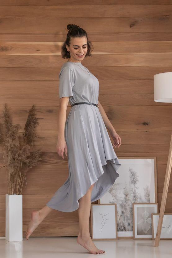 Šaty Hello, světle šedé