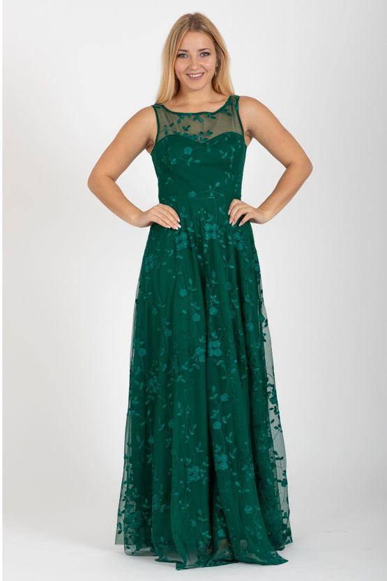 Plesové šaty Políbení, zelené