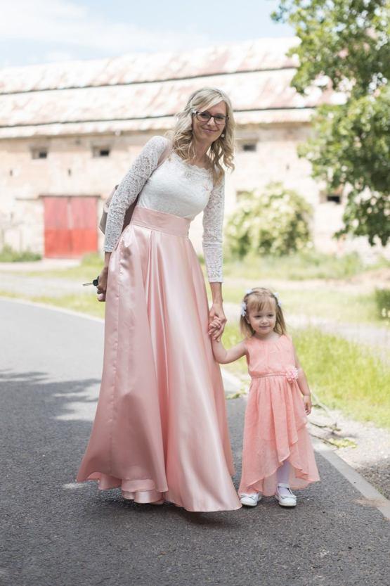 Maxi sukně Sissi, světle růžová