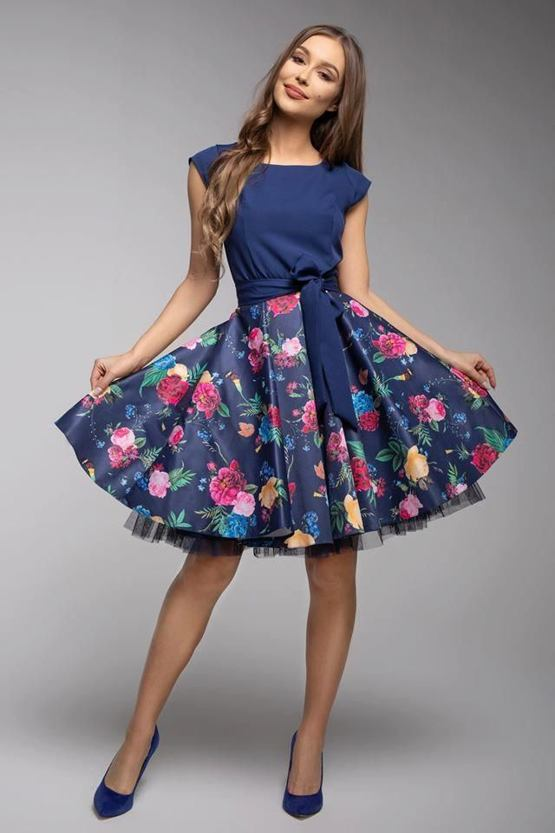 Šaty Dobromila, modré