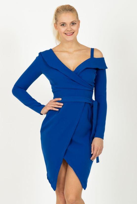 Pouzdrové šaty Metamorfóza, modré