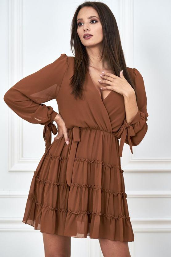 Šaty Spadané listí, hnědé