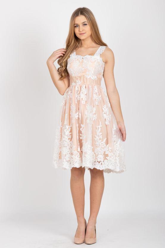 Společenské šaty Běla, meruňkové