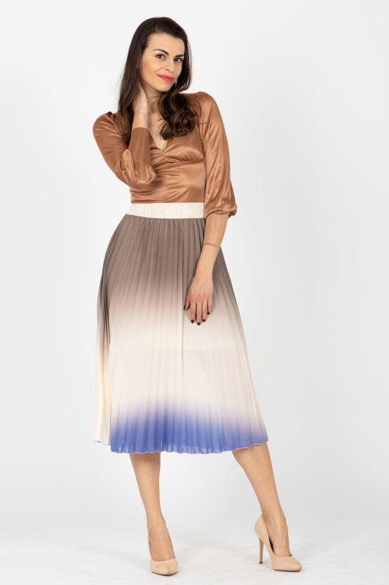714168ef6223 Plisovaná midi sukně Proud