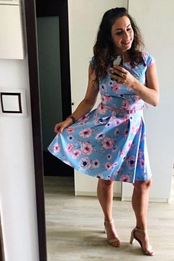 Šaty Sabinka, modré