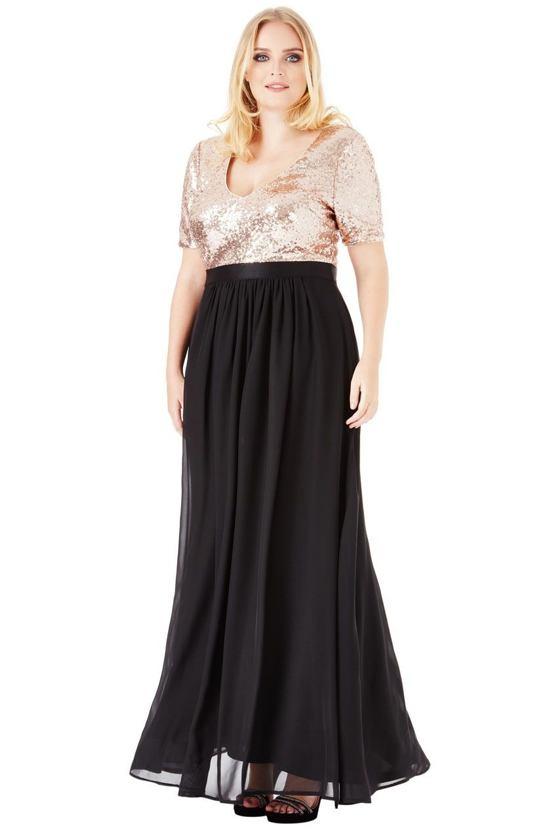 Plus size šaty Priscilla, černé