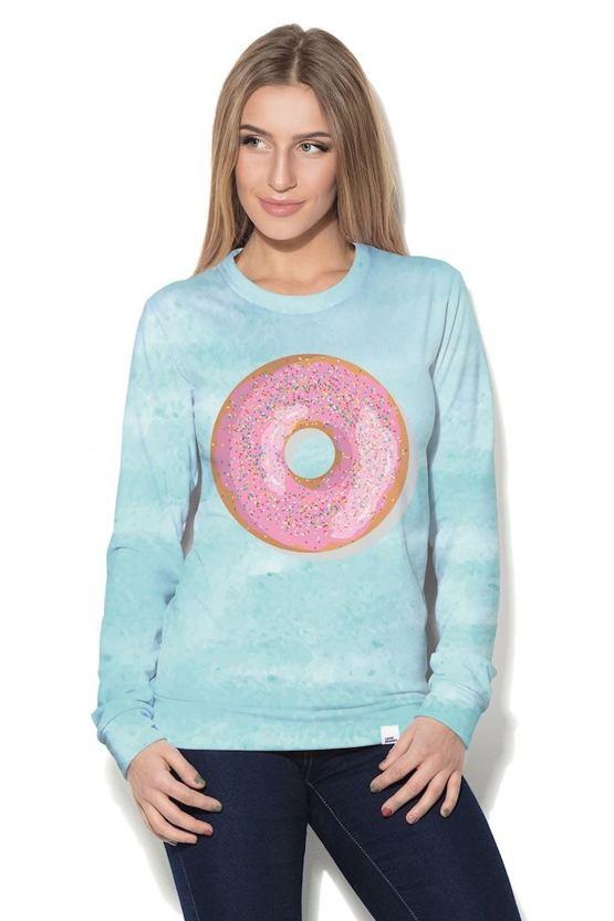 Dámská mikina Veselý donut, mintová