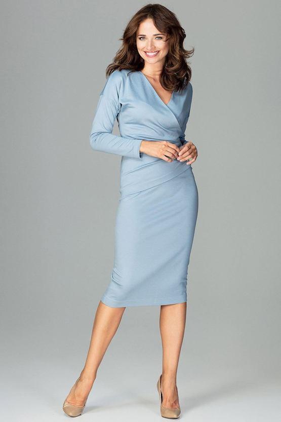 Pouzdrové šaty Římanka, modré