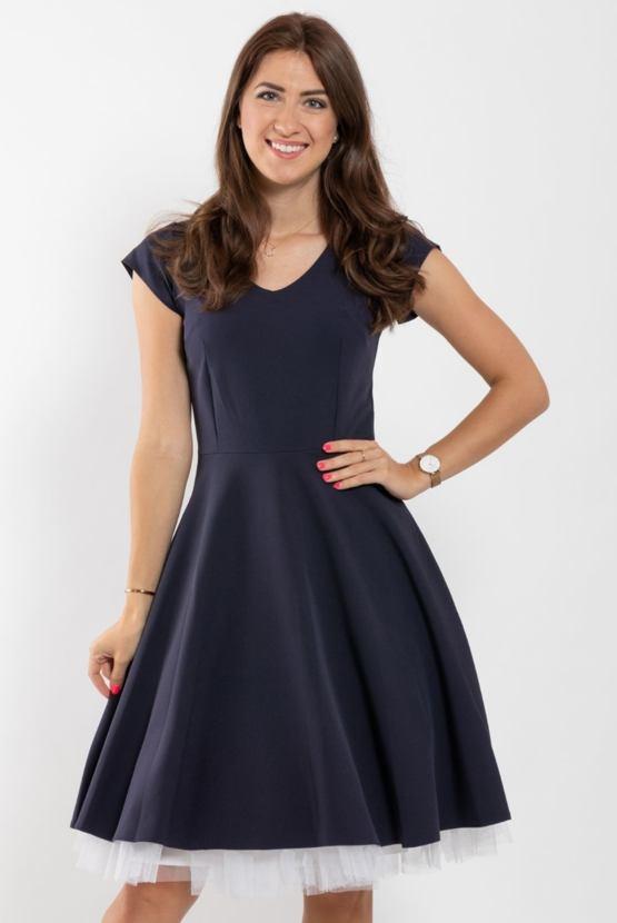 Šaty Muzikál, námořnicky modré