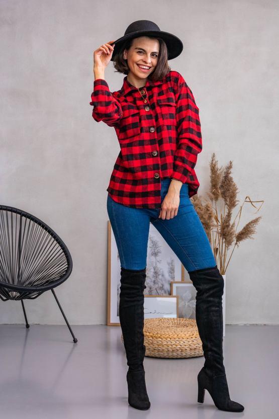POSHstyle - Košile Aljaška, červená