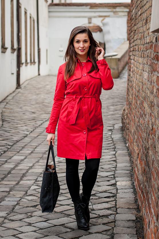 Kabátek Like Cherry, červený