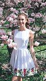 Šaty Flos, bílé